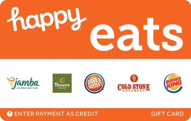 Get 15% off a $50 Happy Eats Gift Card