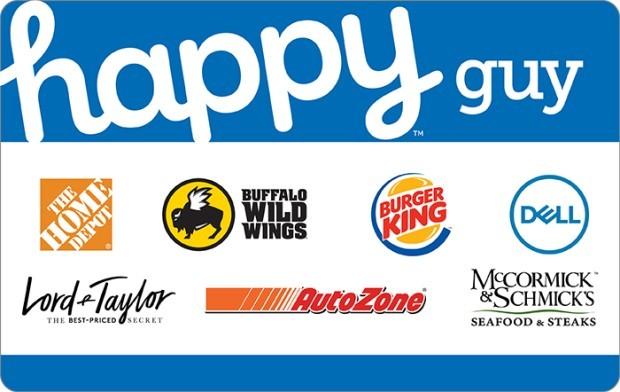 Happy Guy Gift Card: Home Depot, Burger King & More ... Happy Gift Card Home Depot