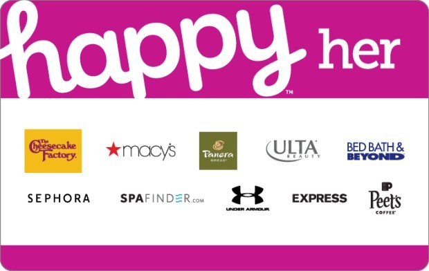 Save 15% off $50 Happy Her Gift Card