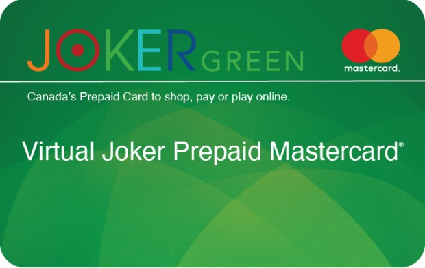 Virtual Joker Green Prepaid Mastercard