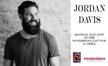 Jordan Davis at The Ponderosa Lounge on May 21st