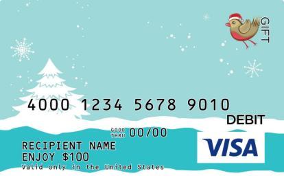 Little Birdie Christmas Visa Gift Card   GiftCardMall.com