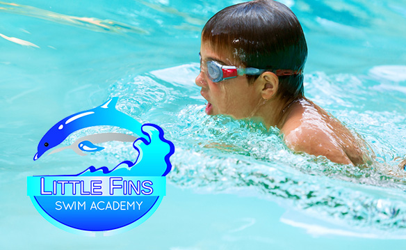 Get 8 swimming lessons from Little Fins Swimming Academy