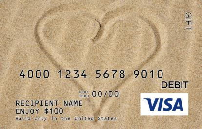 Love in the Sand Visa Gift Card