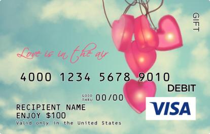 Love Is In The Air Visa Gift Card