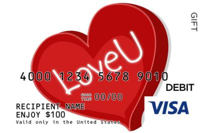 Love You Visa Gift Card