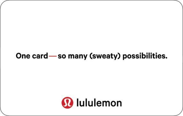 how to send a lululemon gift card