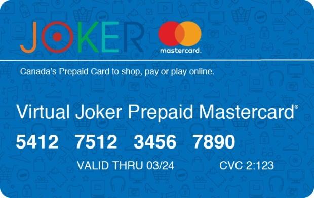 Virtual Joker Prepaid Mastercard®  GiftCards.ca