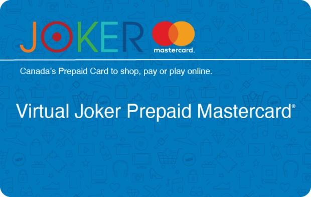 Virtual Joker Prepaid Mastercard