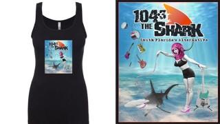 Official Merch from 104.3 The Shark. Pick the Scuba Girl, Guitar Shark or Shark for Pres Women's Tank Top