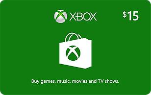 Microsoft Xbox Cash $15 eGift Card