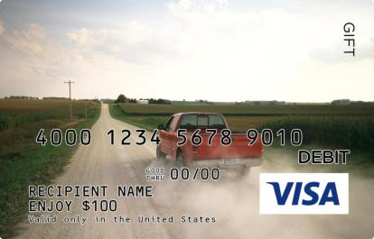 On the Road Visa Gift Card