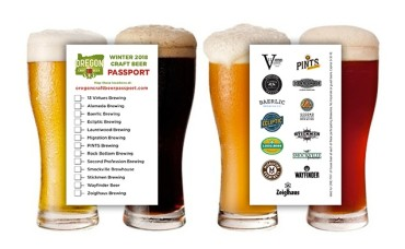 Winter 2018 Craft Beer Passport - Pints from 13 Local Breweries