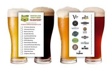 Winter 2018 Craft Beer Passport - Pints from 13 Local Breweries