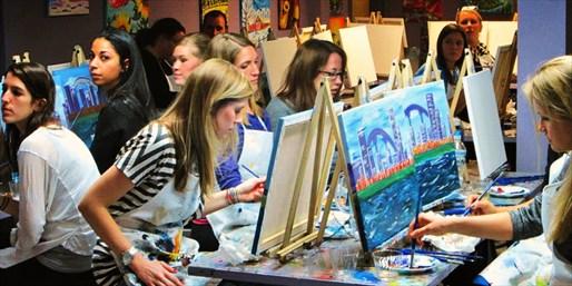 get my perks painting classes at urban art bar save up