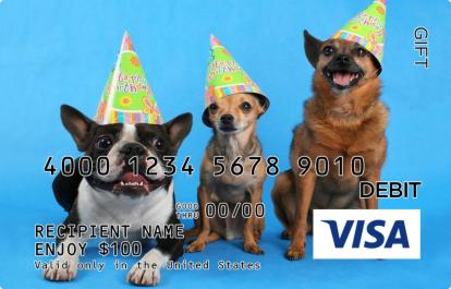 Party Dogs Visa Gift Card Giftcardmall Com