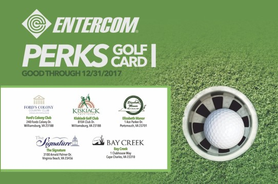 PERKS GOLF CARD PLAY FIVE COURSES, A $400 VALUE, FOR ONLY $125!!