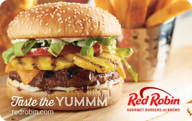 Save $10 off a $50 Red Robin eGift Card