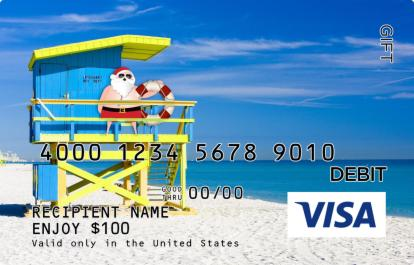 Santa in Panama City Beach Visa Gift Card