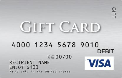 silver visa gift card giftcardmallcom - Visa Debit Gift Card