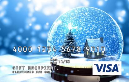 Visa Gift Card with Snowglobe Design