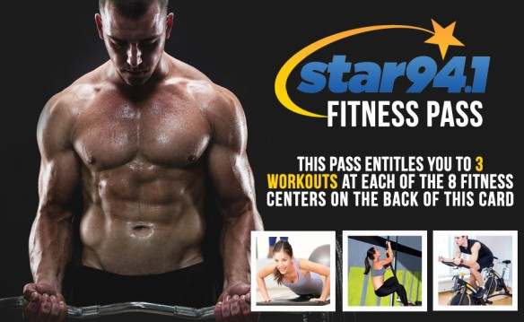 Star 94.1 Fitness Pass - 8 Gyms, 3 Classes Each, 1 Low Price