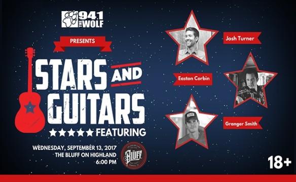 94.1 The Wolf Presents Stars and Guitars ft Josh Turner, Easton Corbin, & Granger Smith!