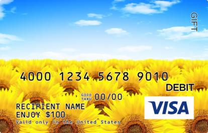 Sunflower Field Visa Gift Card