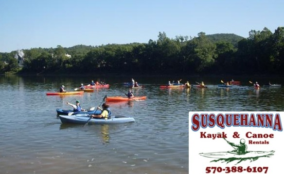 Kayak or Canoe The Susquehanna For Half Price
