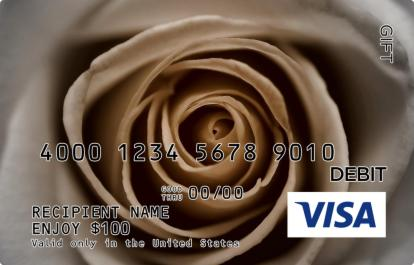 Tan Rose Visa Gift Card