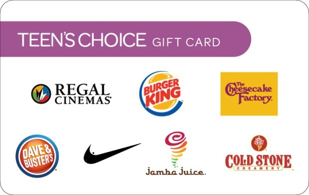 Teen's Choice Gift Card | GiftCardMall com