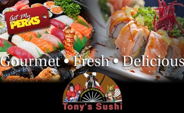 Pay only $15 for $30 to Tony's Sushi!