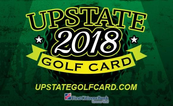 2018 Upstate Golf Card