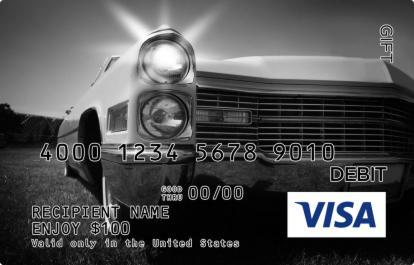Vintage Headlights Visa Gift Card