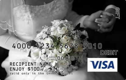 Wedding Flowers Visa Gift Card
