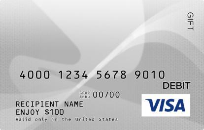 gray visa gift card