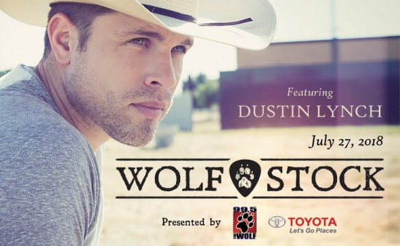Dustin Lynch at 99.5 The Wolf's Wolfstock