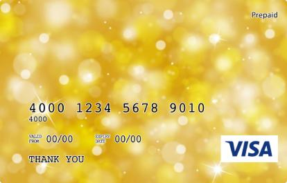 Yellow Sparkle Visa Prepaid Gift Card